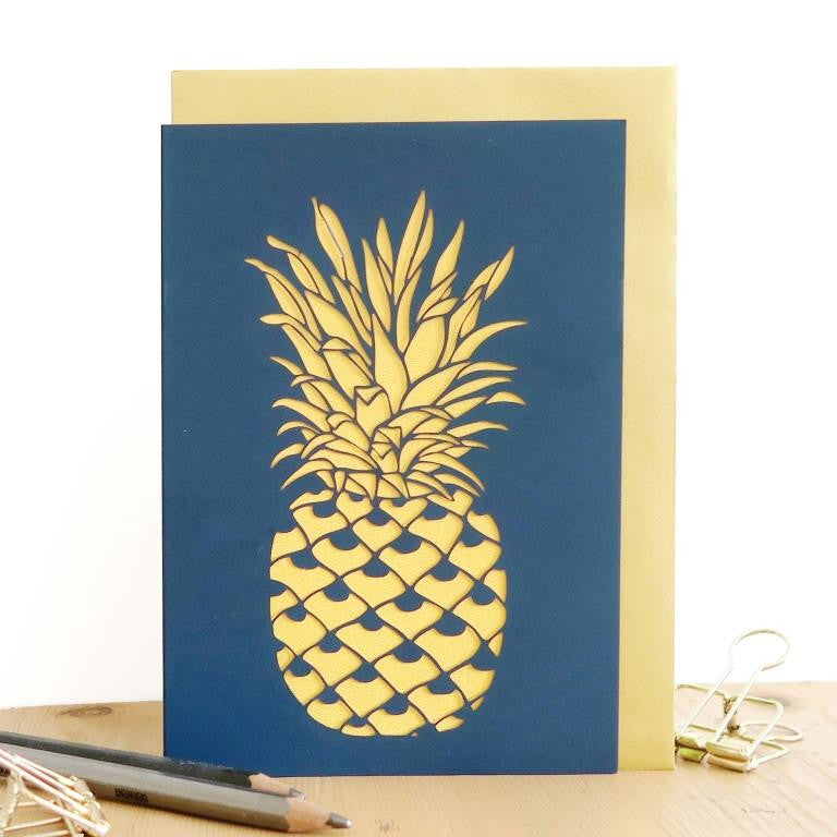 Chau Art - Tropical pineapple card