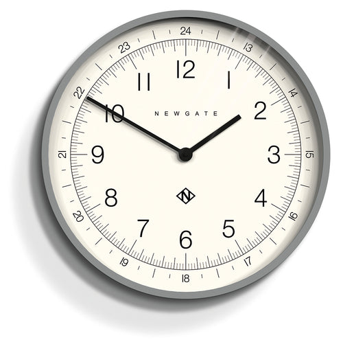 Newgate - Academy Number One Clock - Torpedo - Posh Grey