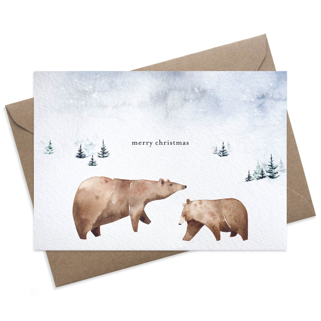 Paper Parade - Bears Christmas Card
