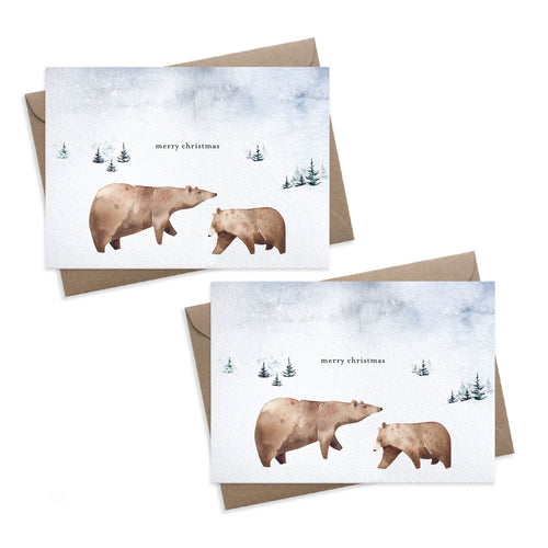 Paper Parade - Bears - Set of 8 Christmas Cards