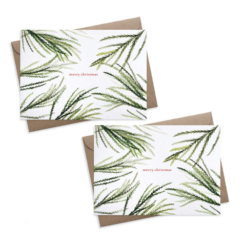 Paper Parade - Cedar - Set of 8 Christmas Cards