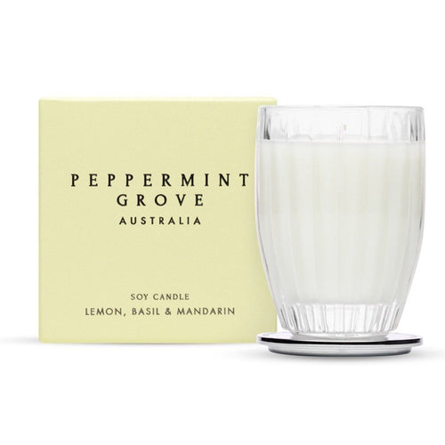 Peppermint Grove - Lemon, Basil & Mandarin - 350g Candle