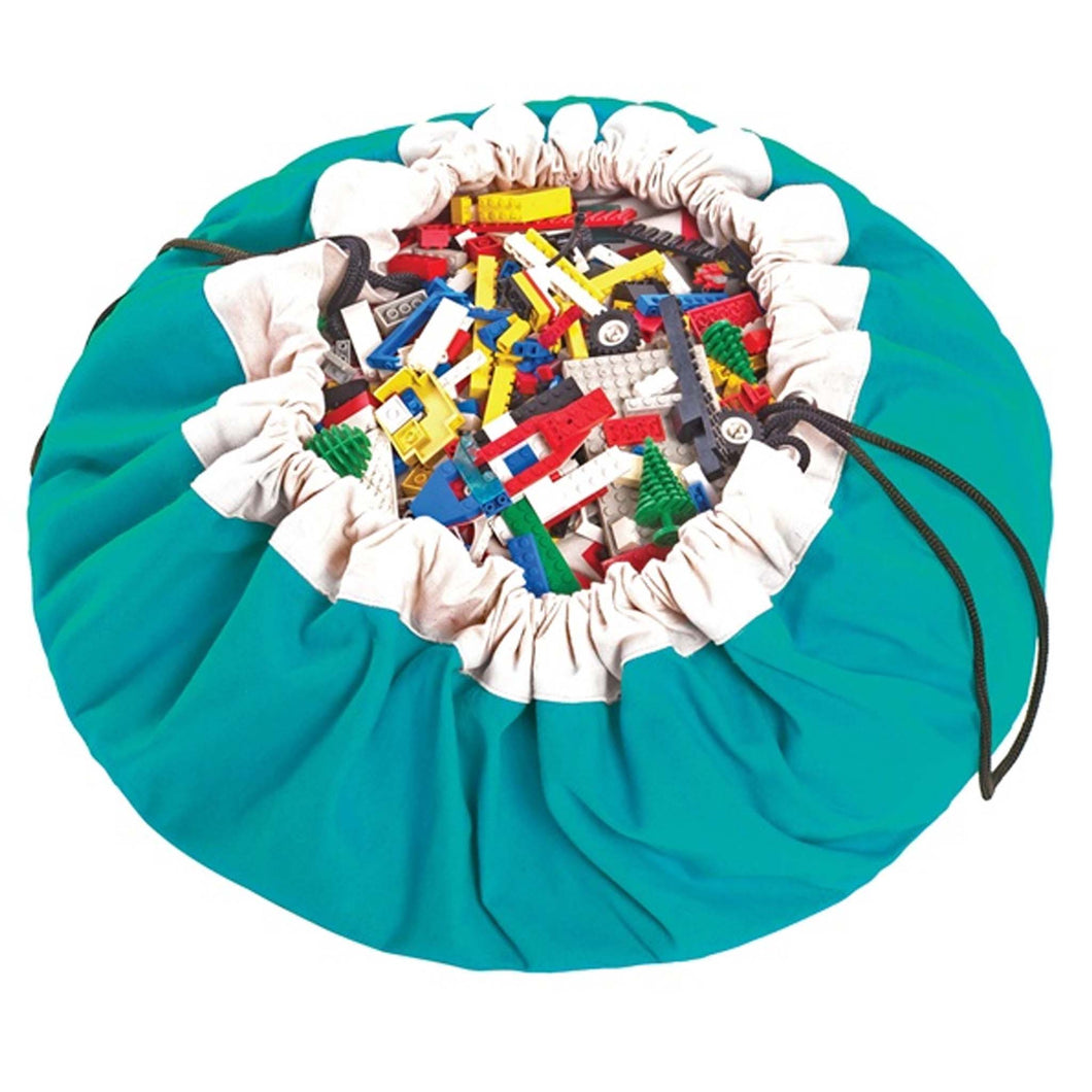 Play Go - Play Mat and Toy Storage Bag - classic turquoise