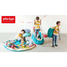 Play Go - Play Mat and Toy Storage Bag - classic turquoise demo