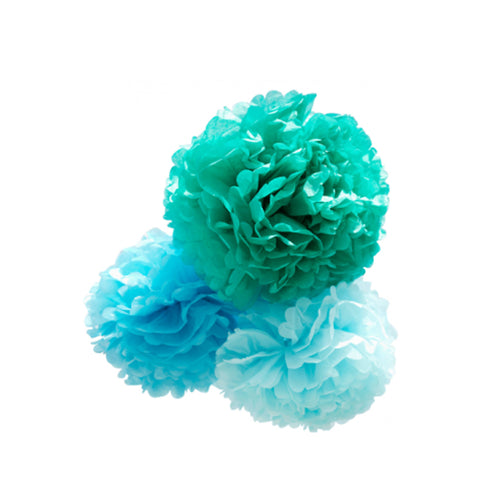 Pom bleu by engel group of 3