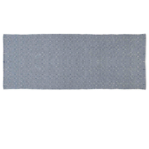 Provence Navy Runner Recycled Bottle Rug