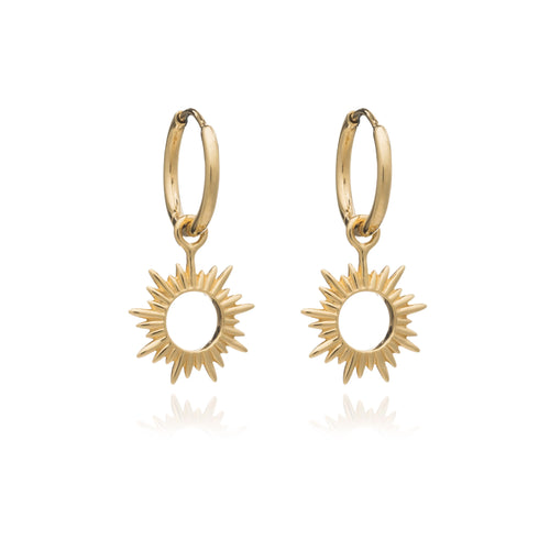 Rachel Jackson - Eternal Sun Mini Hoops - Gold