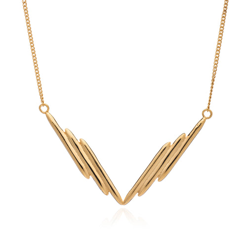 Rachel Jackson - Sunrays V Necklace - Gold
