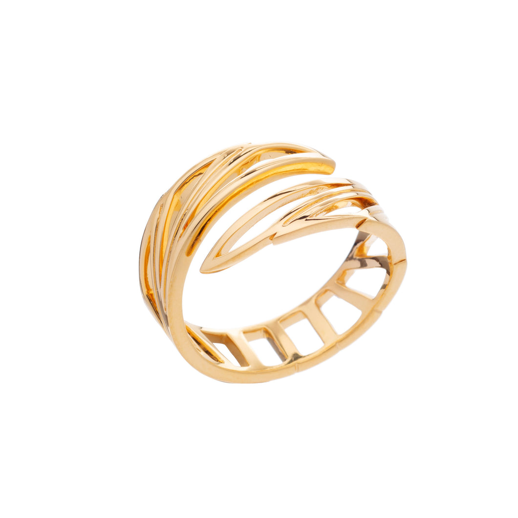 Rachel Jackson - Wings Of Freedom Ring - Gold