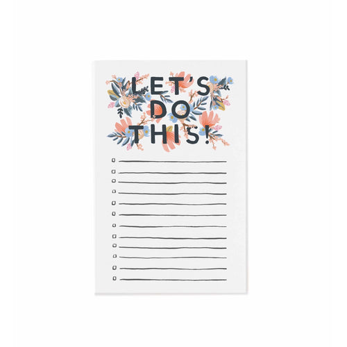 Rifle Paper Co - Let's Do This Notepad