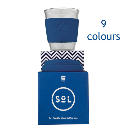SoL Cup - Sol Hand Blown Glass Reusable Cup - 12oz