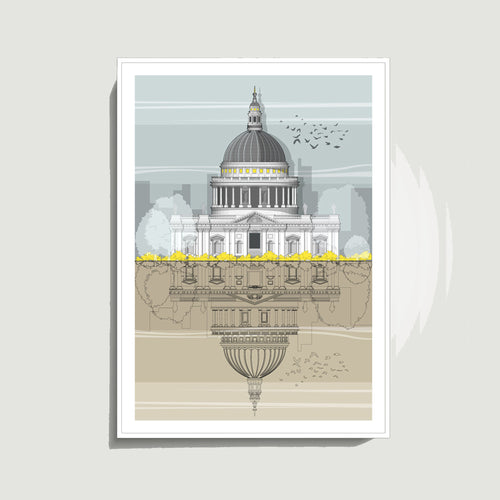 Linescapes - St. Paul's Cathedral A3 Giclee Print