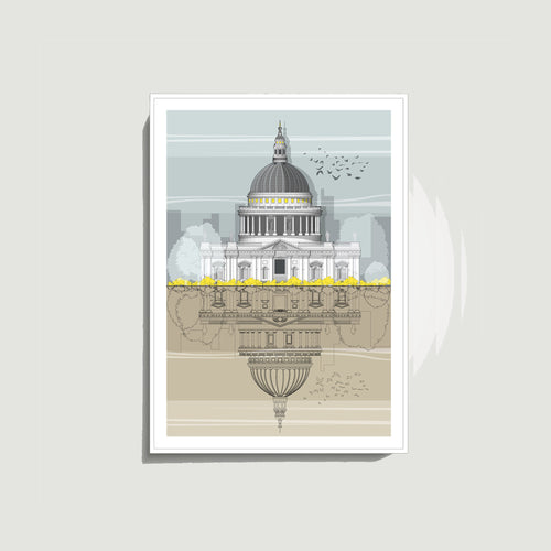 Linescapes - St. Paul's Cathedral A4 Giclee Print
