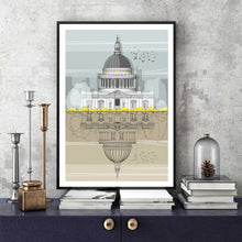 St Paul s Cathedral Print framed