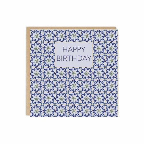 Tor Grey Warp Tile Happy Birthday Card