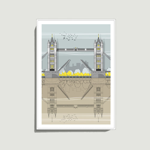 Linescapes - Tower Bridge A3 Giclee Print