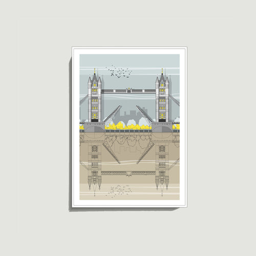 Linescapes - Tower Bridge A4 Giclee Print