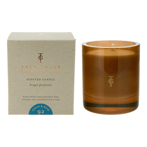 True Grace - Burlington Large Scented Candle - Cedar & Rose