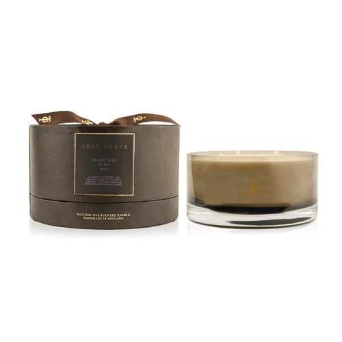 True Grace - Manor 4 Wick Bowl Scented Candle - Black Lily