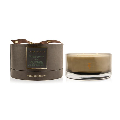 True Grace - Manor 4 Wick Bowl Scented Candle - English Garden