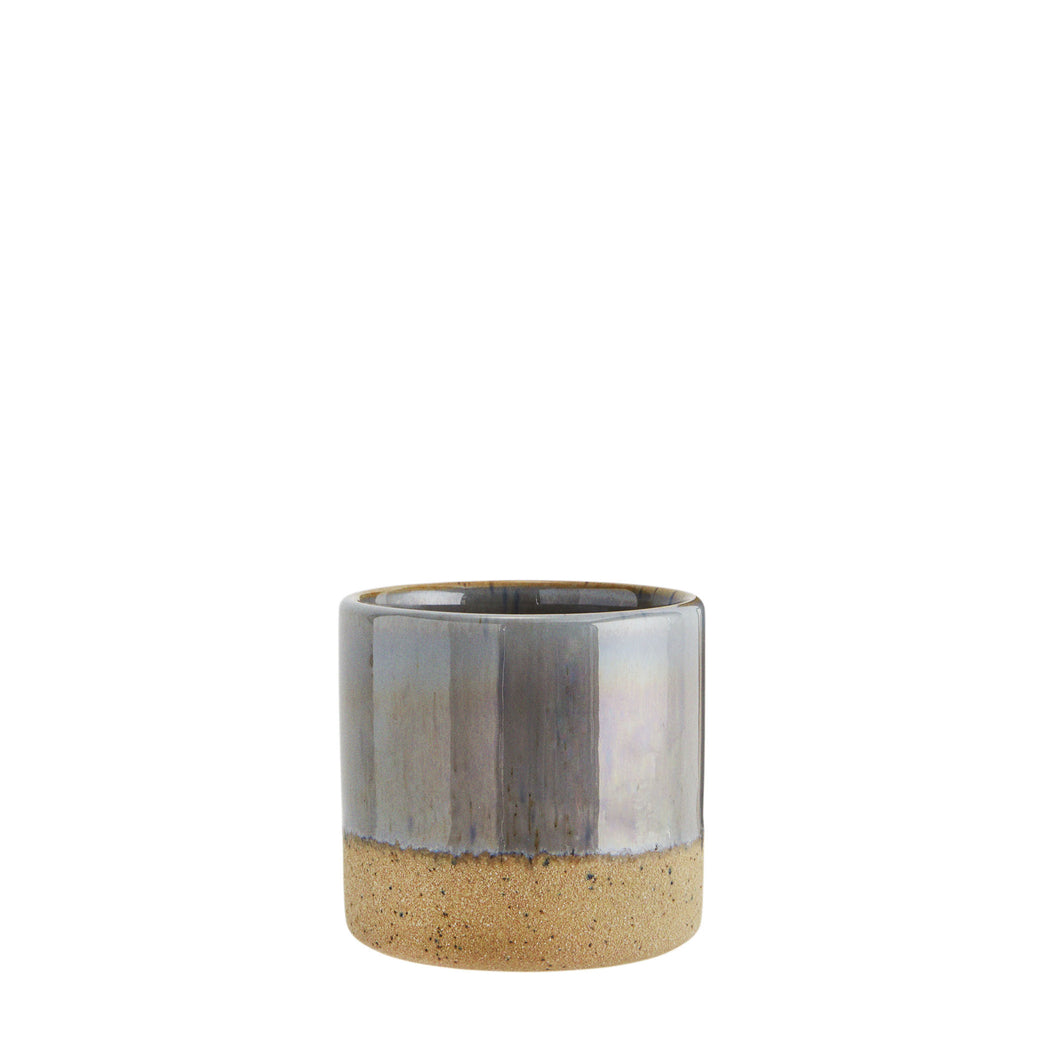 Two tone flower pot Grey and Sand