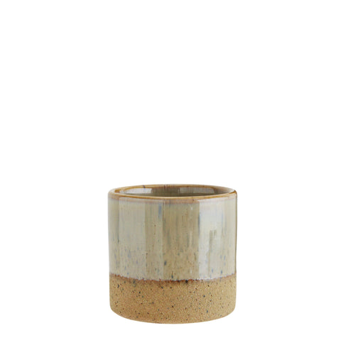 Two tone flower pot Light Olive and Sand