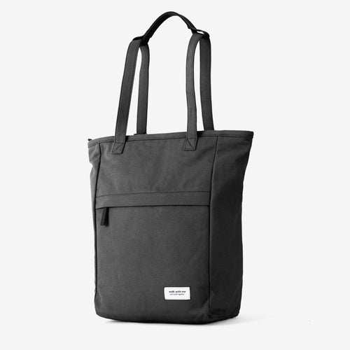 Walk with me London tote backpack black main
