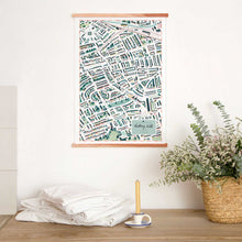 Walk with me notting hill map wall