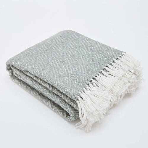 Weaver Green - Diamond Blanket - Dove Grey