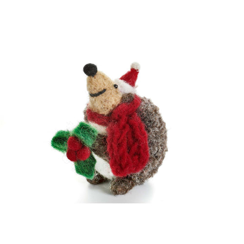 Amica - Hedgehog with Sprig of Holly
