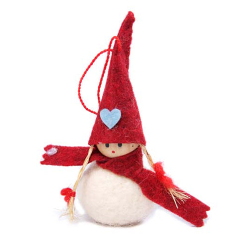 amica christmas felt decoration Ball Choir Girl with Hat