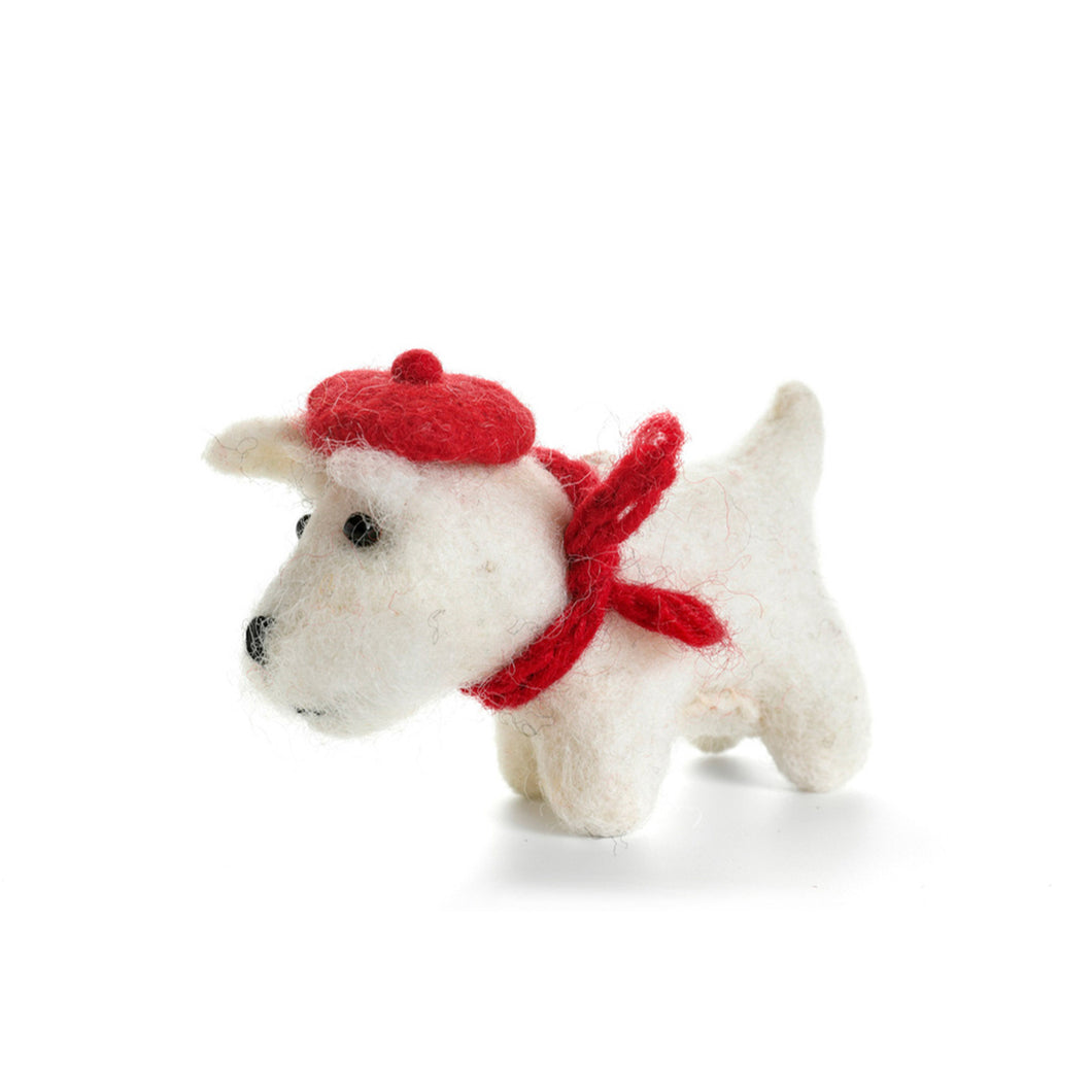 Amica - Highland White Westie Felt Decoration