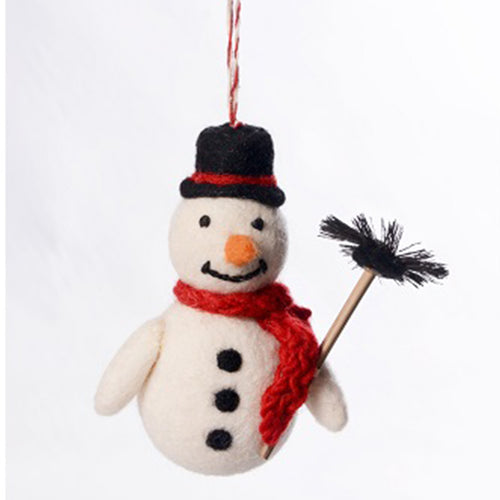 amica christmas felt decoration chimney sweep snowman