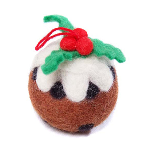 amica christmas felt decoration christmas pudding