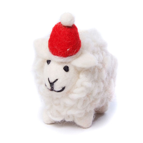 amica christmas felt decoration sheep in santa hat