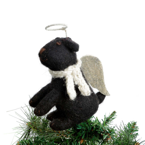 Amica - Black Labrador Tree Topper Felt Christmas Decoration - Small