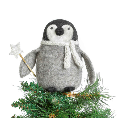 Amica - Penguin Tree Topper Felt Christmas Decoration