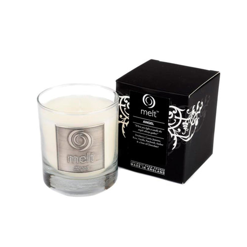 angel scented luxury glass jar candle by melt
