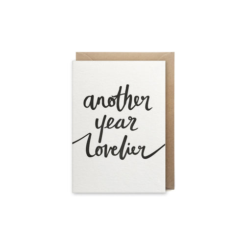 another year lovlier letterpress card