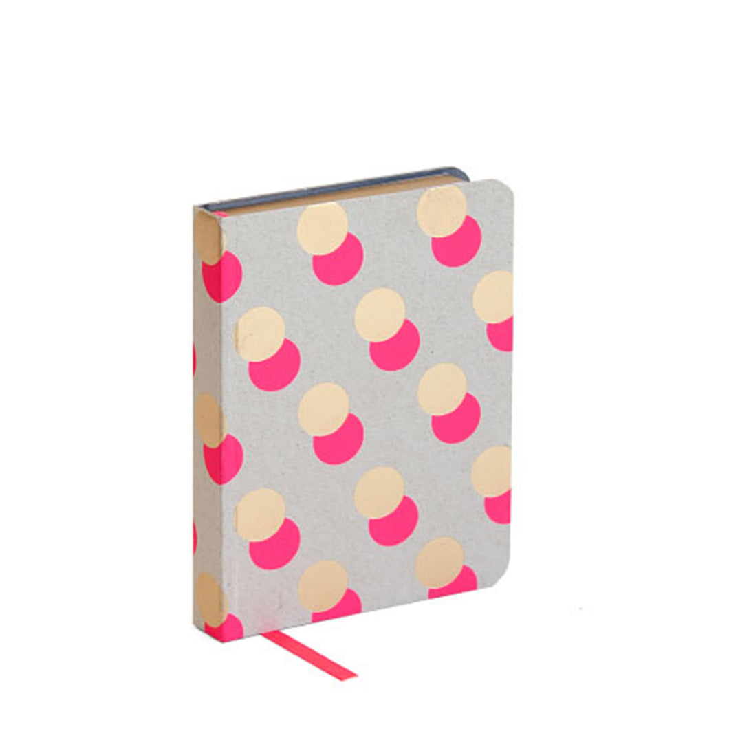 Artebene - Pink and Gold Dots Overlap Notebook A6