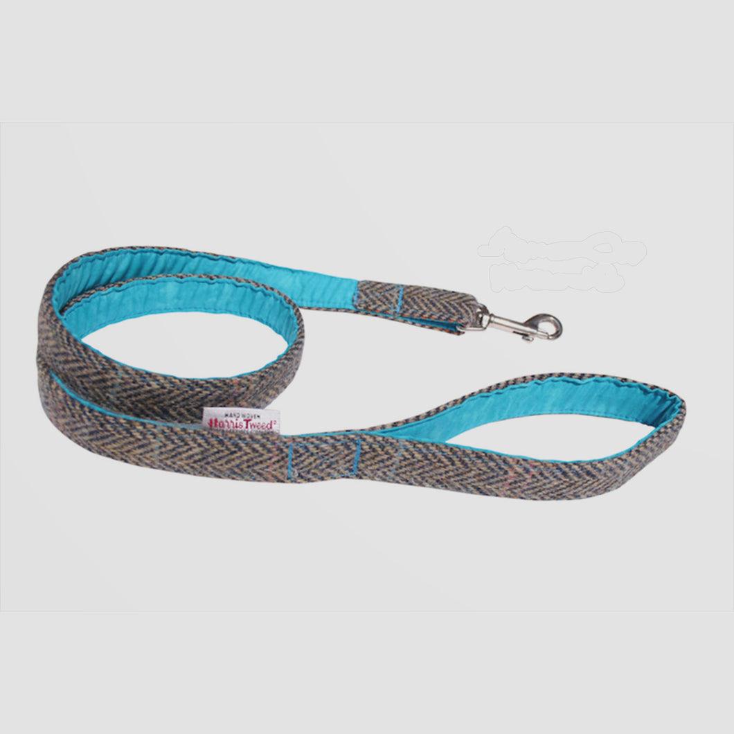 barra harris tweed dog lead