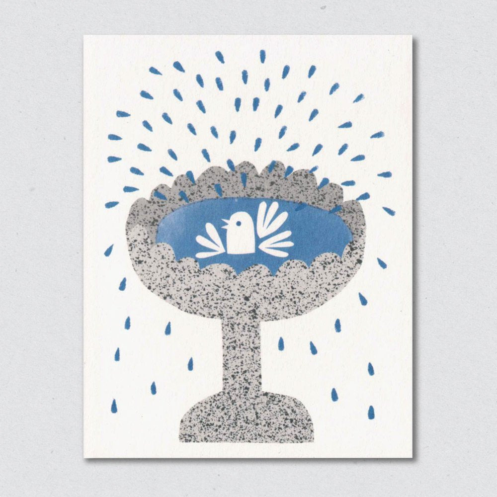 Lisa Jones Studio - Bird Bath Card