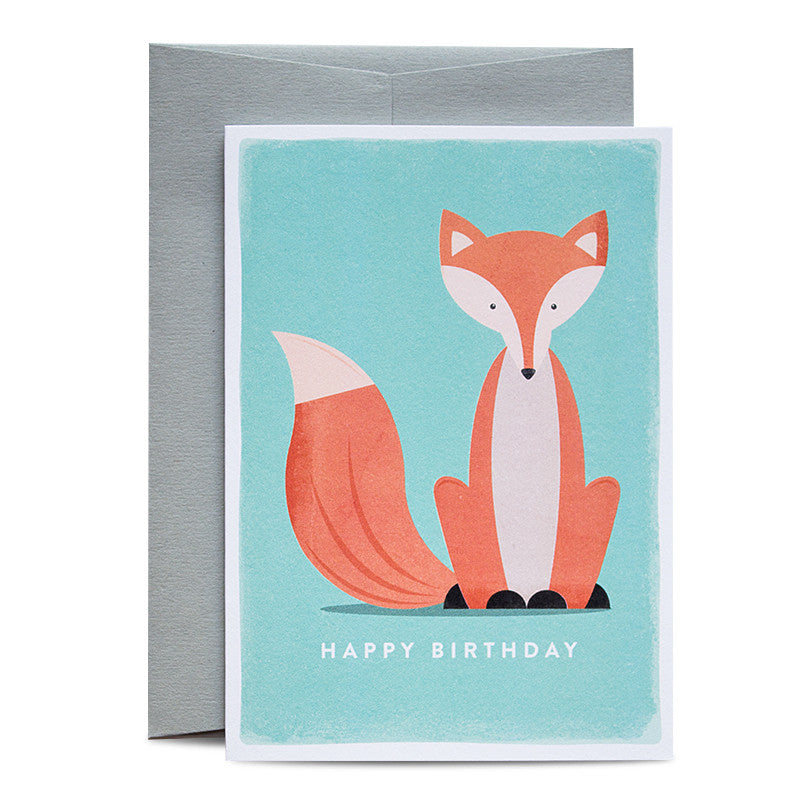 Duke & Rabbit - Birthday Fox Card
