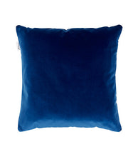 blue velvet scatter cushion back
