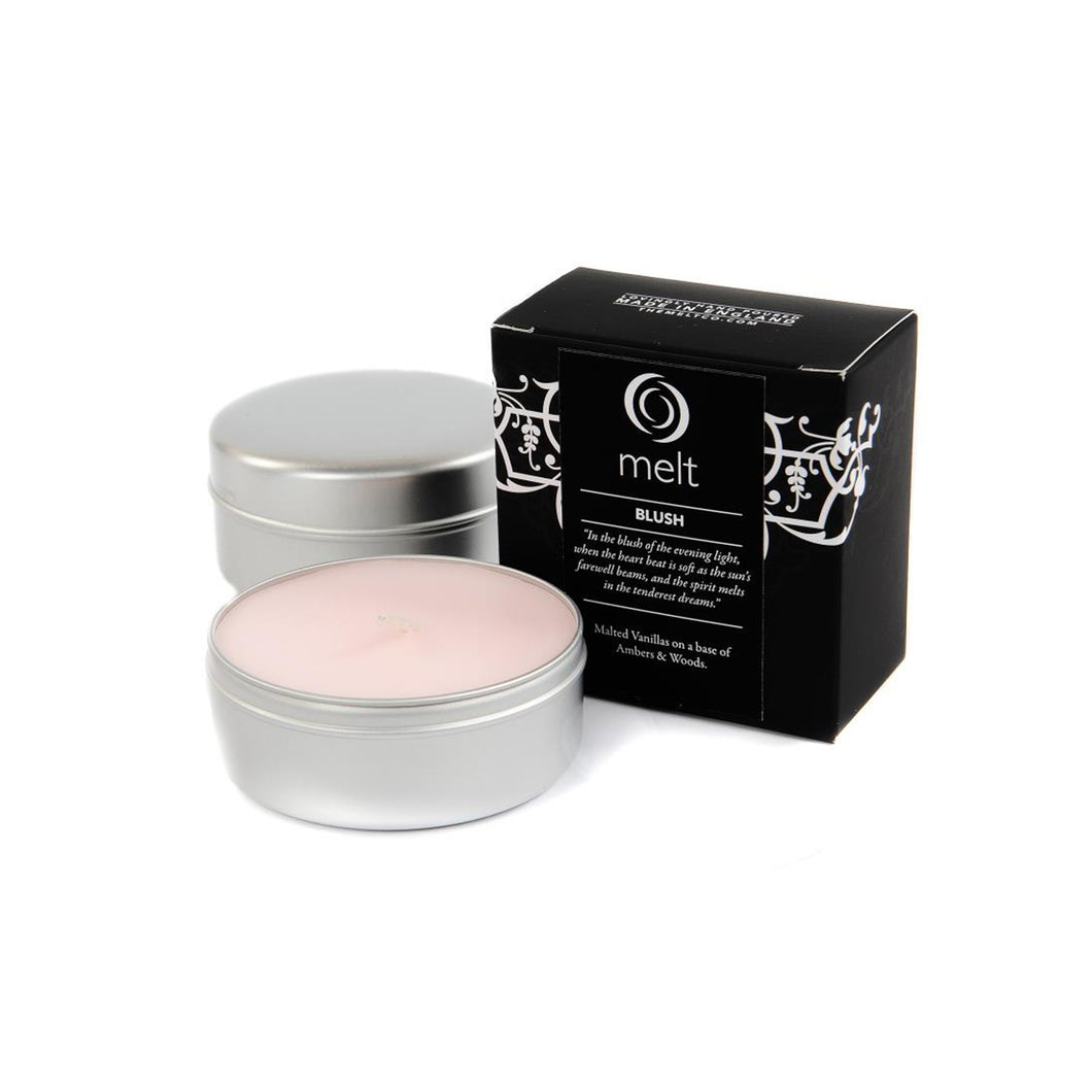 blush scented travel tin candles by melt