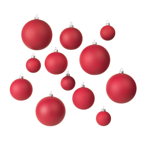 broste - Ammos Christmas Baubles - Set of 12 - Red