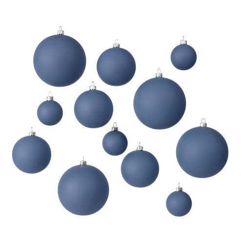broste - Ammos Christmas Baubles - Set of 12 - Orion Blue
