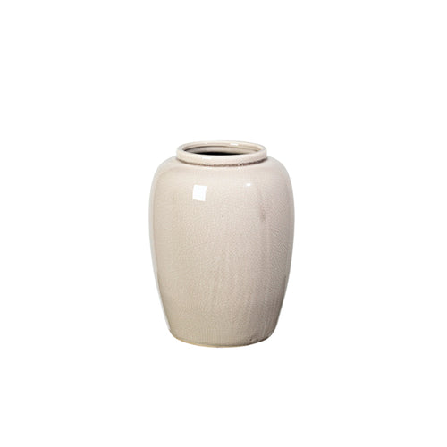 broste Crackle Rainy Day Cream Ceramic Vase