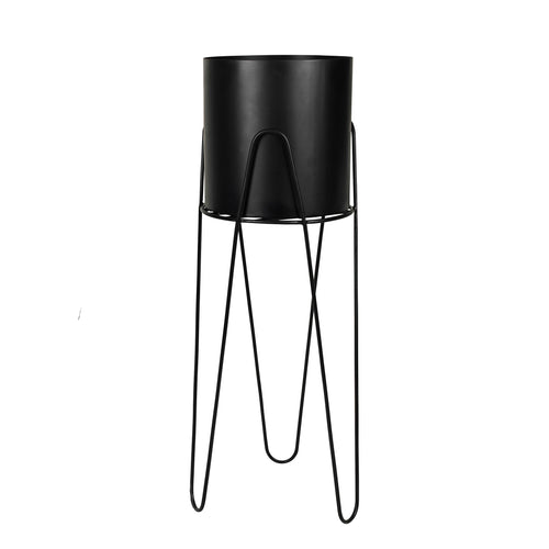 broste Lisa Black Metal Plant Stand - large