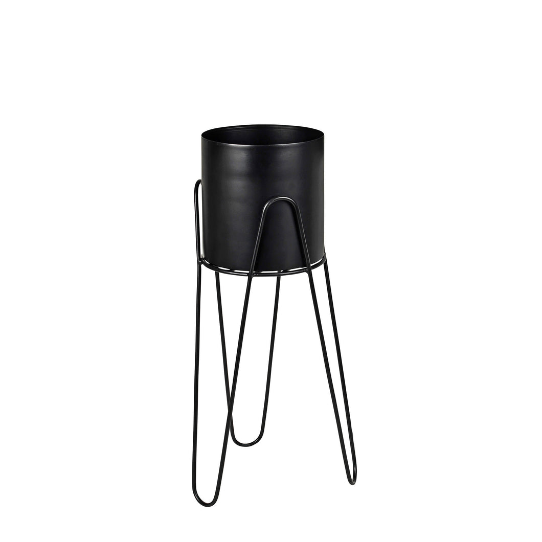 broste Lisa Black Metal Plant Stand - small